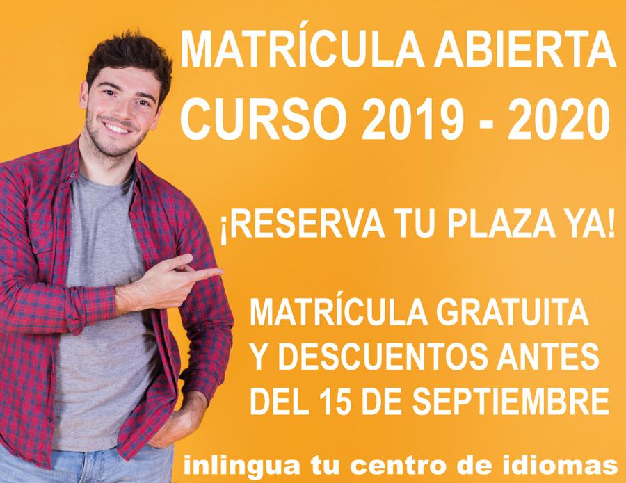 Matrícula Abierta - Curso 2019 - 2020